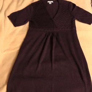 Loft Sweater Dress - Plum - Sz. Small - EUC -